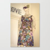 vogue Canvas Prints featuring Vogue by Carol Knudsen Photographic Artist