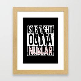 Straight Outta Nublar Framed Art Print