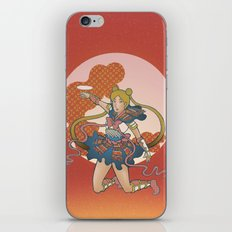 Samurai Moon iPhone & iPod Skin