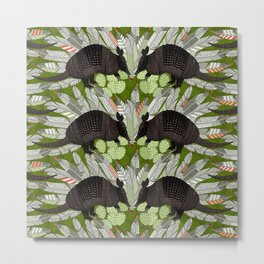 native armadillos green Metal Print