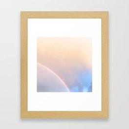 160. Pink and Blue Rainbow, France Framed Art Print