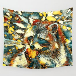 AnimalArt_Raccoon_20170601_by_JAMColorsSpecial Wall Tapestry