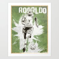 ronaldo Art Prints featuring Ronaldo by Renato Cunha