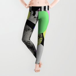 Cluttered Circles - Abstract, Geometric, Pop Art Style Leggings