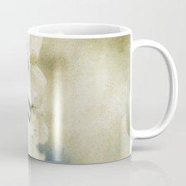Yellow Green Vintage Cherry Flowers Coffee Mug