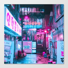 SEOUL NEON LIGHTS Canvas Print