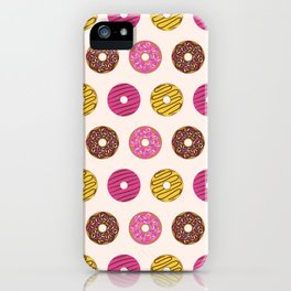 Sweet Donuts Pattern iPhone Case