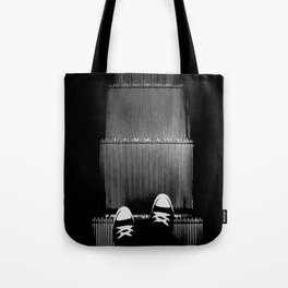 Up The Down Escalator Tote Bag
