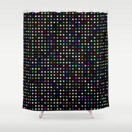 Big Hirst Polka Dot Black Shower Curtain