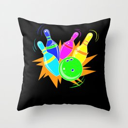 Retro Bowling - Gift Throw Pillow
