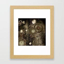 Steampunk, clocks and gears Framed Art Print