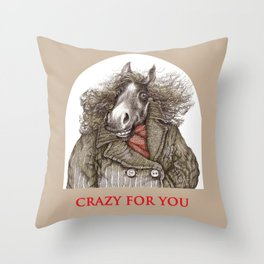 Gallant steed Throw Pillow