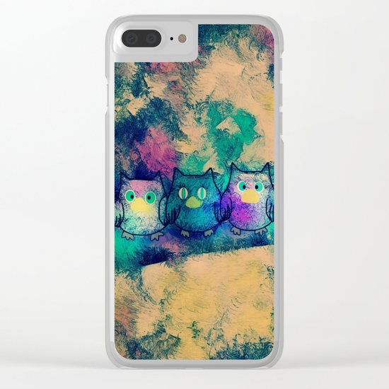 owl-258 Clear iPhone Case