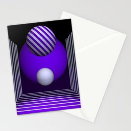 geometric design -507- Stationery Cards