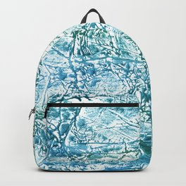Green blue marble watercolor Backpack
