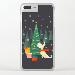 Little White Christmas Westie Clear iPhone Case