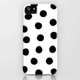 Big Fat Black White Spots iPhone Case