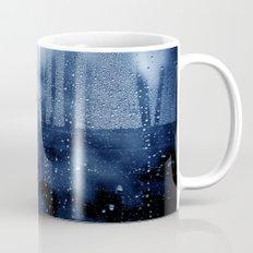 blue abstract with raindrops Mug