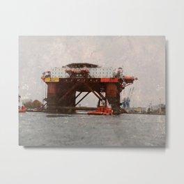 Safe Scandinavia oil rig Metal Print