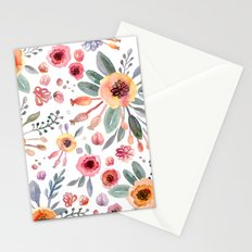 flower watercolor 2 Stationery Cards