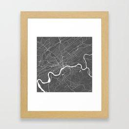 Knoxville USA Modern Map Art Print Framed Art Print