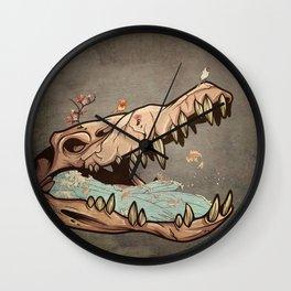 Animal Skull and birds Wall Clock