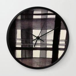 Painterly Plaid Wall Clock