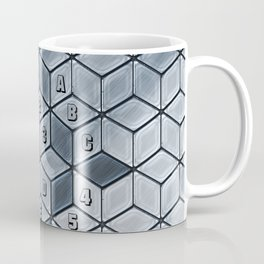 Soft gradient cubes in grey tones Coffee Mug