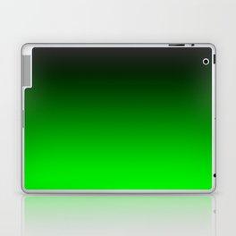 Black Lime Green Neon Nights Ombre Laptop & iPad Skin