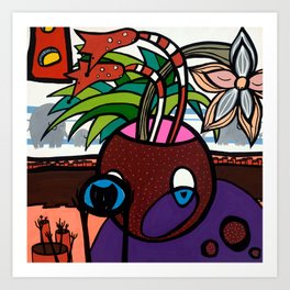 POTHEAD and the COVETED GLASS EYE Art Print