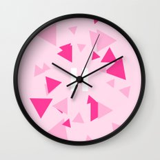 Opposite III Pause Pink Wall Clock