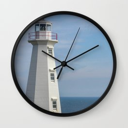 lighthouse Cape Spear Wall Clock