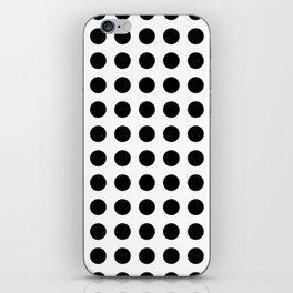 Simply Polka Dots in Midnight Black iPhone Skin