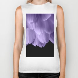 Ultra violet purple flower petals black Biker Tank