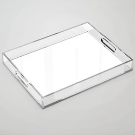 White Minimalist Solid Color Block Acrylic Tray