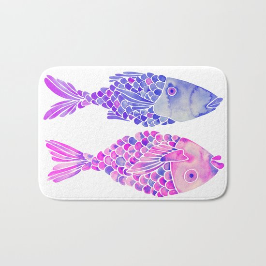 Indonesian Fish Duo – Mermaid Palette Bath Mat