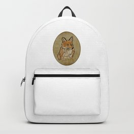 A Solemn Fox Portrait Backpack