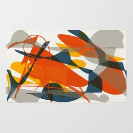 Abstract Bird Rug