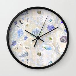 Shells - Yellow Purple Green - Casart Sea Life Treasures Collection Wall Clock