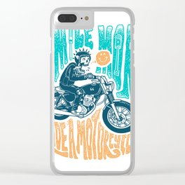Smile More, Ride a Motorcycle Clear iPhone Case