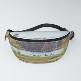 Migrate | Nature Landscape Photography of Birds in Fall Autumn Leaves Trees Fanny Pack