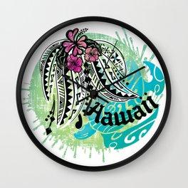 Ocean Spray Hawaiian Turtle Threads Wall Clock