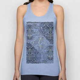 Silver ^ Pewter Butterfly Collage Unisex Tank Top