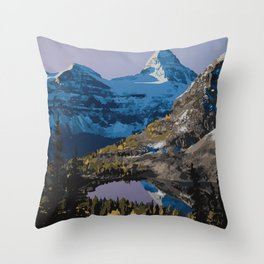 Mt. Assiniboine Provincial Park Throw Pillow