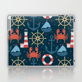 Sea blue pattern Laptop & iPad Skin
