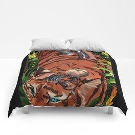Tiger telegraph Comforters