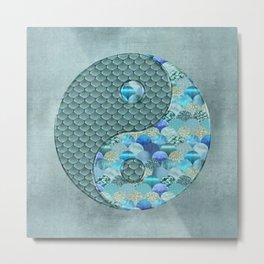 Yin Yang Ocean Spirit Metal Print