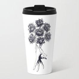 Hand with lotuses Travel Mug