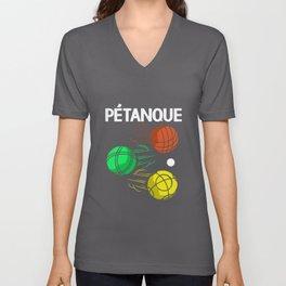 Petanque Colorful Bocce Balls Boules Sports Game Unisex V-Neck