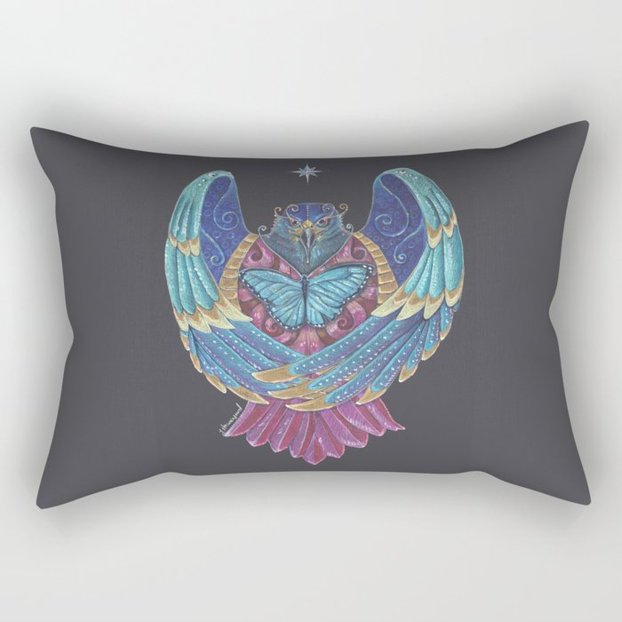 Eagle Totem Rectangular Pillow